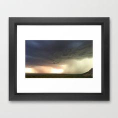 Two Storms Moving Framed Art Print by Pajaritaflora - $31.00 Monsoon across our Sulphur Springs Valley