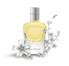 Perfume bottles, drawing for CitizenK magazine, pencil  / Domitille Leca