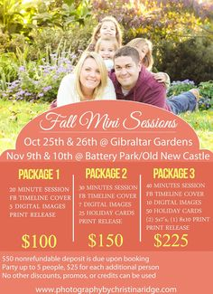 Fall/Holiday Mini-Sessions Specials {photography by christina ridge}