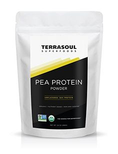 Terrasoul Superfoods Organic Pea Protein (Unflavored), 1.5# on Amazon Prime (only ingredient is peas)