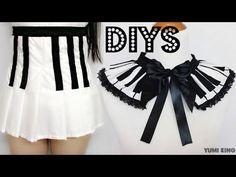2 Creative DIYs: DIY Piano Key Pleated Skirt + DIY Piano Collar - YouTube
