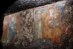 Madonna del Parto - Sutri  - Madonna con Bambino e Vescovo   #TuscanyAgriturismoGiratola