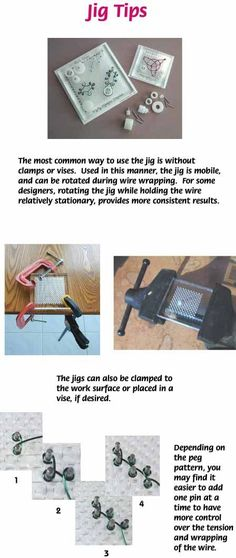Tips for using jewelry making jigs using WigJig jewelry making tools, wire and jewelry supplies.