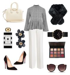 """""""Work Day"""" by jessica-trisanti on Polyvore featuring Agnona, Topshop, Givenchy, Christian Louboutin, CLUSE, Chanel, Jeanne Simmons, Rebecca Taylor and Jo Malone"""