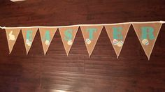 A personal favorite from my Etsy shop https://www.etsy.com/listing/179071976/easter-burlap-bunting-with-colorful-eggs