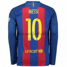Billige Fotballdrakter Barcelona 2016-17 Messi 10 Hjemme Draktsett Langermet Messi 10, Lionel Messi, Neymar Jr, Barcelona 2017, Barcelona Shirt, Messi Shirt, Nike Long Sleeve Shirt, Kobe, Soccer