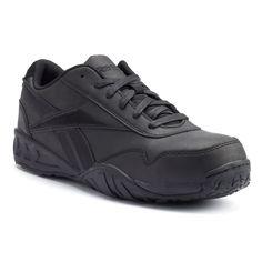 Reebok Work Bema Men's Composite-Toe Shoes, Size: 5.5 Med, Black