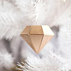 Learn to make this Balsa Wood diamond Ornament with this tutorial. (via A Beautiful Mess)