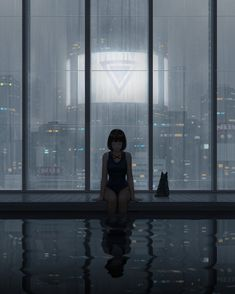 Swimming pool - posted in the Cyberpunk community Anime Art Girl, Manga Art, Pretty Art, Cute Art, Aesthetic Art, Aesthetic Anime, Arte Cyberpunk, Arte Obscura, Type Illustration