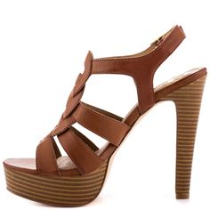 tan sandals with a heel for woman | Fergie Playful Tan Shoes for Women