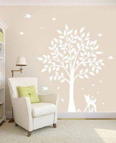 Nursery Tree Decal   Vinyl Wall Decals   Nursery Decals With Butterflies, TREE , Birds U0026 Fawn