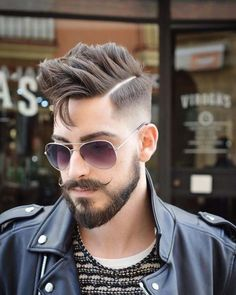 Mens Hair and Beard Great look...check out the mustache!