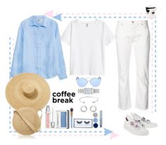 """""""But first coffee!"""" by ritva-harjula ❤ liked on Polyvore featuring Nili Lotan, Christian Dior, Samuji, Gentle Monster, Longines, Dolce&Gabbana, Luxie, Huda Beauty, Estée Lauder and Clinique"""