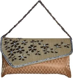 This is a very beautiful clutch. This clutch comes with stunning Gota work which is unique and different. A very beautiful design and a must have in your collection.