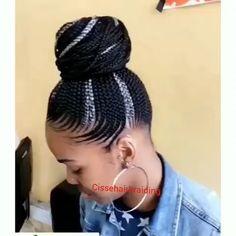 85 Box Braids Hairstyles for Black Women - Hairstyles Trends Ghana Braids Hairstyles, Braided Hairstyles For Black Women Cornrows, Braided Ponytail, Cornrows Updo, Braided Mohawk, Mohawk Hairstyles, Hairstyles Videos, Natural Hair Braids, Braids For Short Hair