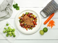 Skinkebiff med eple- og byggrynsalat - Sunn - Oppskrifter - MatPrat Frisk, Poultry, Grains, Turkey, Beef, Chicken, Food, Peru, Backyard Chickens