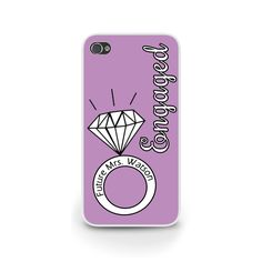 """Bold Engagement Ring """"Engaged"""" Lilac 