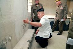 North Korean leader Kim Jong-un gives field guidance at the construction site of the Yonphung Rest Home for Scientists in Pyongyang