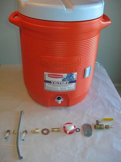10 Gallon Rubbermaid MLT Conversion - Home Brew Forums -- I have build this mysh. - Home Brewing - Home Brewery, Home Brewing Beer, Beer Mash, Brew Your Own Beer, Home Brewing Equipment, Homemade Beer, Beer Recipes, Drink Recipes, How To Make Beer