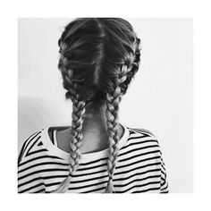 WELCOME Double french braids ❤ liked on Polyvore featuring accessories, hair accessories, hair and french braid