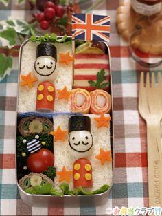 Toy soldier sandwich bento