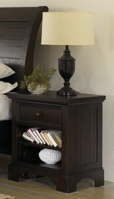 Walnut Park 1Drawer Nightstand In Brown  Aspen Home Furniture Captivating Aspen Home Dining Room Furniture Inspiration Design