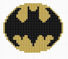 Free Batman Symbol cross stitch pattern!