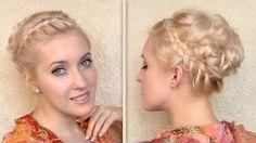 Yunan Tanrıça Örgülü Kabarık Saç Modeli Yapımı - Özel günler için veya günlük evde yapabileceğiniz yunan tanrıça örgülü kabarık saç modeli tekniği (Greek Goddess Hair Tutorial Updo Hairstyle Video)