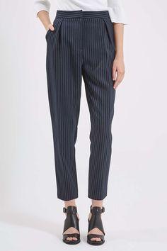 Pinstripe Peg Trousers