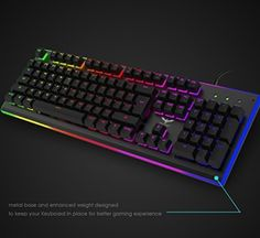 f07fff1bd58 Amazon.com: HAVIT RGB Backlit Wired Membrane Gaming Keyboard, Mechanical-Similar  Typing/Gaming Experience (RGB Color): Computers & Accessories
