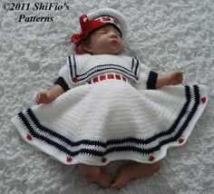 BABY GIRL CROCHET PATTERN SAILOR CROCHET PATTERNS