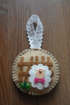 spring craft made from felt