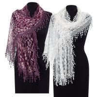 Lace Shawl Scarf pyramid collection possible purpley one for Erin's vintage wedding