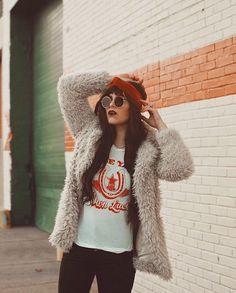 Babetown USA over here  @iindiefoxx looking rad in the Velvet Sienna Turban Shop this perfect shade of burnt orange via link in bio  #BabesInBands