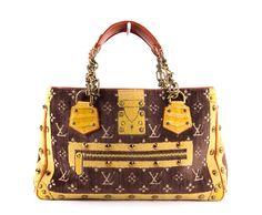 Louis Vuitton Brown & Yellow Monogram Velvet Trompe Loeil Le Fabuleux Bag Limited Edition