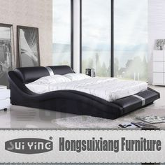 modern streamline bedroom sets soft bed A070, View bedroom, SUIYING Product Details from Hongsuixiang Furniture Manufactory on Alibaba.com