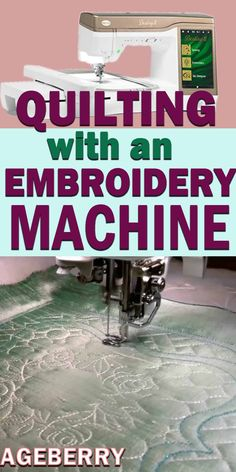 Quilting with an embroidery machine – be amazed!