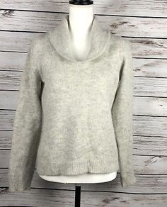 Rafaella Woman s Angora Lambswool Sweater Long Sleeve Size Medium 811e0b31de4a