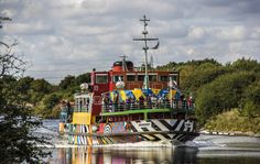 Dazzle Ferry (Snowdrop) on the Manchester Ship Canal