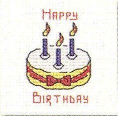 Birthday Cake: Cross stitch (Mouseloft, 014-444stl)
