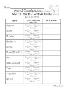 1000+ ideas about Animal Classification Activity on Pinterest ...