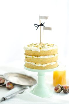 Passionfruit and Lemon Vanilla Cream Sponge Cake Recipe