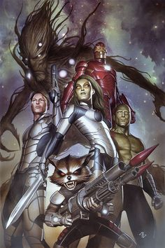 Guardians of the Galaxy #1 variant cover by Adi Granov