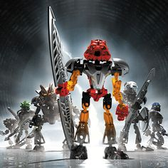 Bionicle. Remember when this is what the boys gave each other for their birthdays, instead of ammo? Where did the time go?