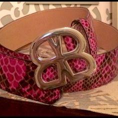 B/A/S/L/E/R purple snakeskin belt, NWOT Size 4 purple belt basler Accessories Belts