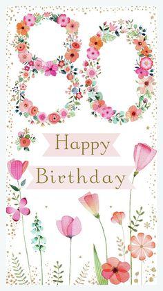 Leading Illustration & Publishing Agency based in London, New York & Marbella. Happy Birthday Floral, Happy 80th Birthday, Happy Birthday Wishes Cards, Birthday Greetings, Birthday Cards, Special Birthday, 80th Birthday Quotes, Birthday Pins, Art Birthday