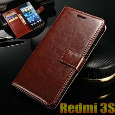 xiaomi redmi 3S 3 s case cover luxury leather flip Phone Bags for xiaomi redmi 3 pro ultra thin wallet cover Mobile Phone Case [Affiliate]