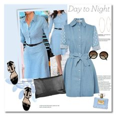 Day to night dots by vkmd on Polyvore featuring polyvore, fashion, style, Dorothy Perkins, Arlington Milne, Michael Kors, H&M, Versace and DayToNight