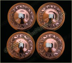 Tribe Nawaar's Copper Paisley Zils Belly Dance Finger Cymbals Decorative Sagat