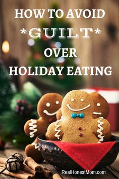 Ways to avoid guilt about overeating and enjoying favorite, fattening foods during the holidays.